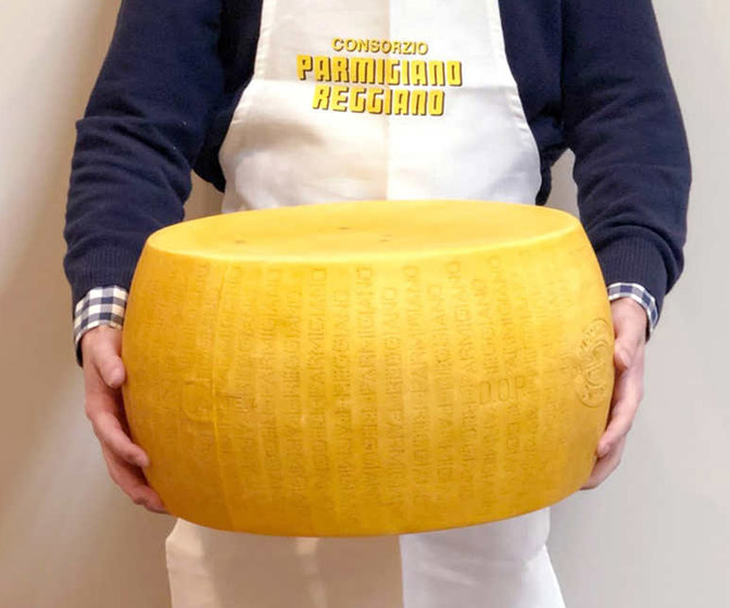 Costco Whole Wheel of Parmigiano Reggiano Cheese - 72 Pounds!