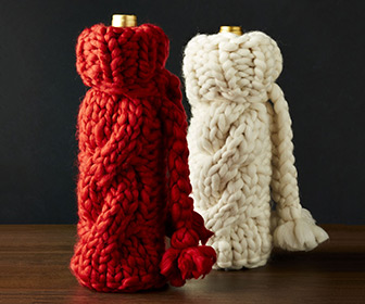 Cozy Cable Knit Sweater Wine Bottle Covers