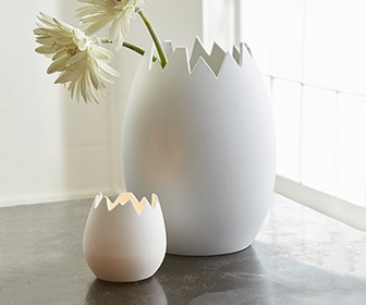 Cracked Eggshell Vase