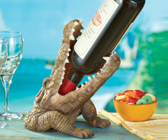 Crocodile Wine Bottle Holder