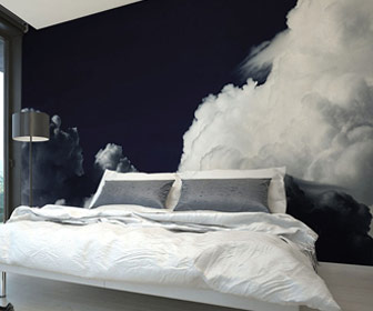 Dark Clouds Wall Mural