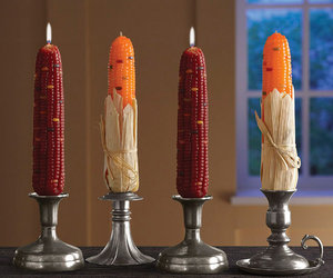 Decorative Indian Corn Candles