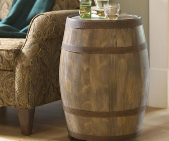 Deep Creek Wine Barrel Storage Table