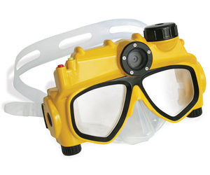 Swim Mask With Integrated Digital Camera and Video