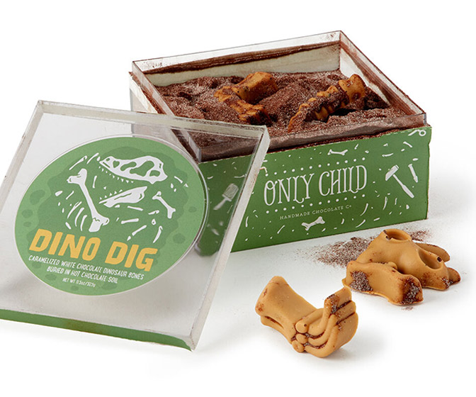 Dino Dig - Hot Chocolate Soil With Buried White Chocolate Dinosaur Bones
