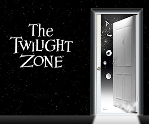 Doorway to The Twilight Zone Door Decal