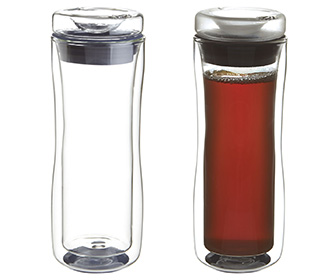 Double Walled Glass Commuter Mug