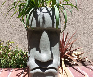 Easter Island Moai Head Planter