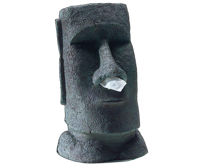 Easter Island Moai Head Tissue Dispenser