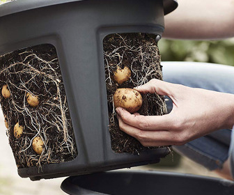 Easy Access Potato Pot Planter