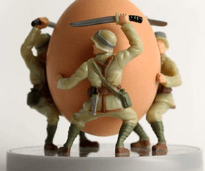 Soldier Egg Cup - Battle on the Breakfast Table