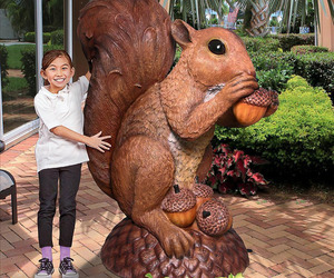Enormous Squirrel Statue