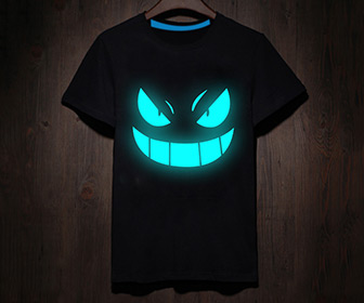 Evil Smile T-Shirt - Glows Blue in the Dark