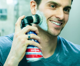 Evolution Brush - Universal Shaving Cream Can Brush