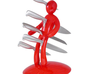 The EX - Voodoo 5-Knife Holder Display