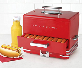 Extra Large Diner Style Hot Dog Steamer
