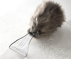 Fancy Faux Fur-Covered Ice Scraper
