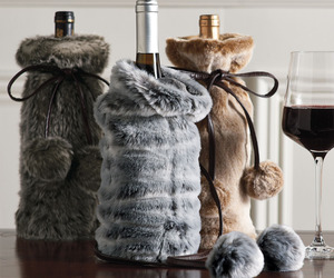 Faux Fur Wine Bottle Covers