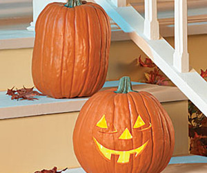 Faux Pumpkins - Realistic, No Mess, Flameless, Carvable!