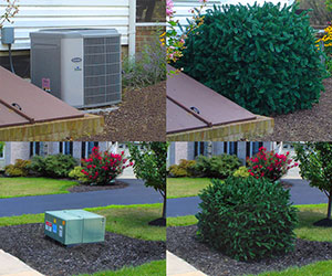 Faux Shrub Utility Cover