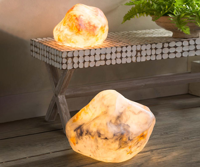 Faux Stone Marble Floor Lamp
