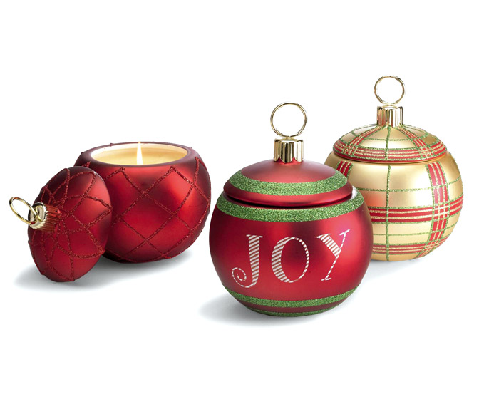 Festive Scented Ornament Candles