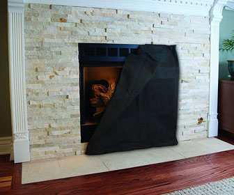 Fireplace Screen Blanket - Minimize Heat Loss and Save on Energy Bills