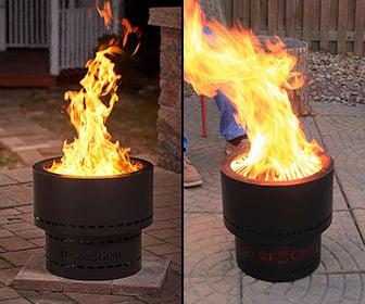 flame genie wood pellet smokeless fire pit