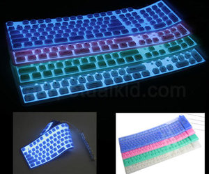 Flexible Silicone Illuminated Keyboard