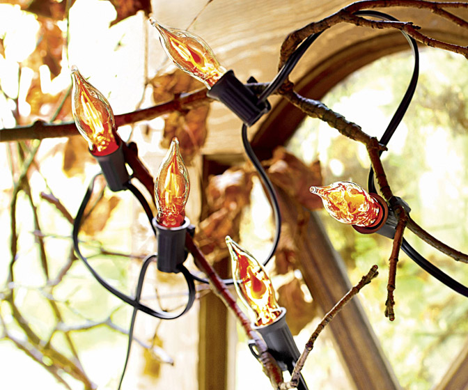 Flicker Flame String Lights
