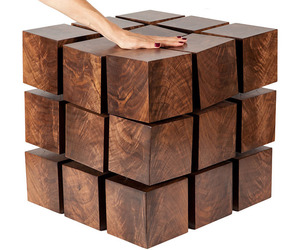 Float - Magnetized Levitating Wooden Cubes Table