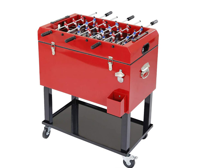 Foosball Table / Rolling Ice Chest Cooler