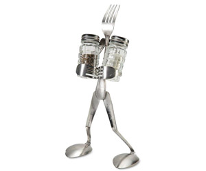 Fork Man Salt and Pepper Shaker Caddy
