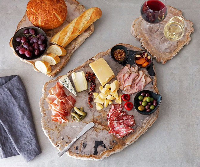 Fortessa Petrified Wood Charcuterie Boards
