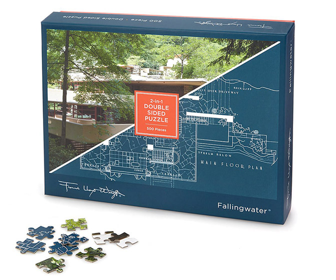 Frank Lloyd Wright Double-Sided Jigsaw Puzzles