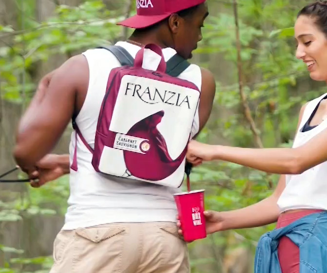 Franzia Box Wine Backpack