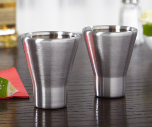 Freezable Stainless Steel Shot Glasses