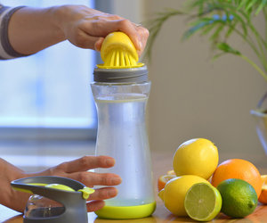 Full Circle Wherever - Lemon Water On-the-Go Glass Bottle