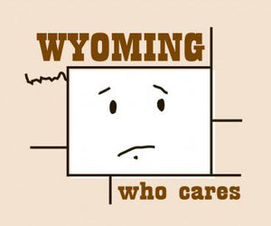 Funny T-Shirt - Wyoming: Who Cares