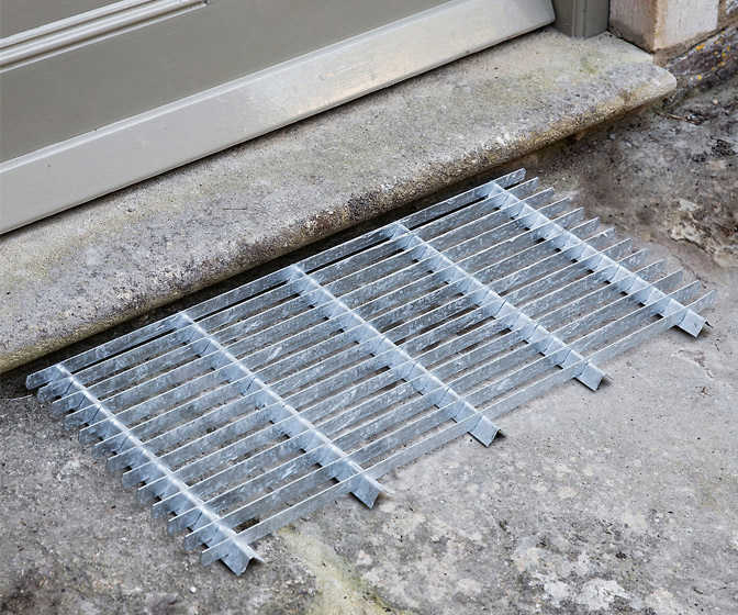 Galvanized Steel Door Mat / Boot Scraper