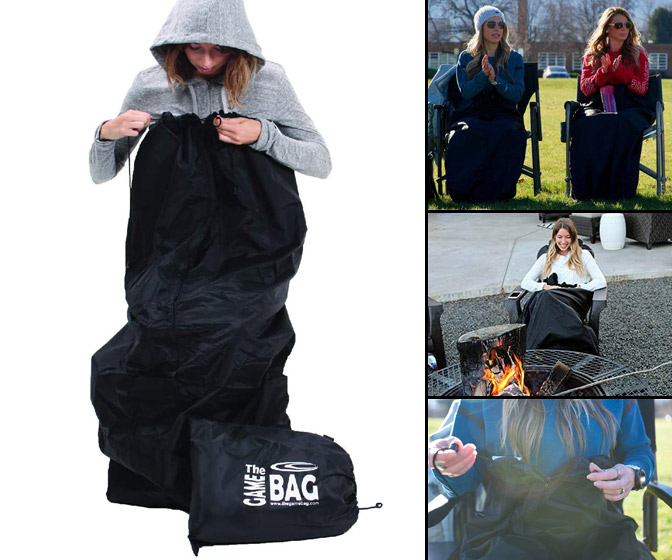 Game Bag - Wearable Waterproof and Windproof Outdoor Blanket