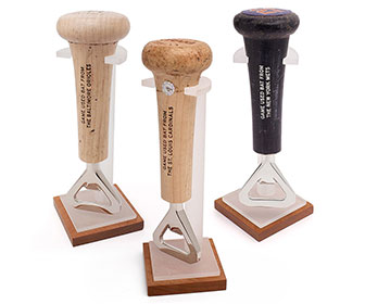 Game-Used Baseball Bat Handle Bottle Openers
