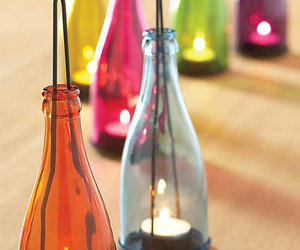 Garden Bottle Lanterns