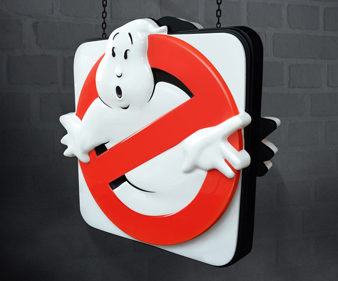 Ghostbusters Firehouse Sign Replica - Double-Sided and Illuminated