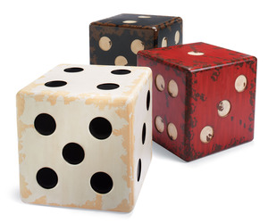 Giant Antique Dice Tables