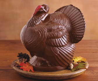 Giant Chocolate Turkey Thanksgiving Centerpiece