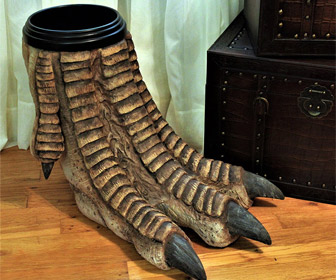 Giant Dinosaur Foot Waste Basket