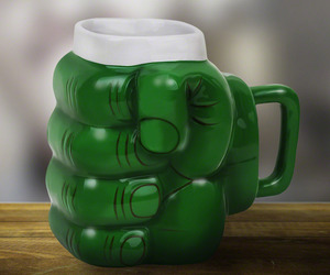 Giant Green Monster Fist Coffee Mug