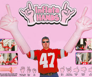 Giant Inflatable Hands!