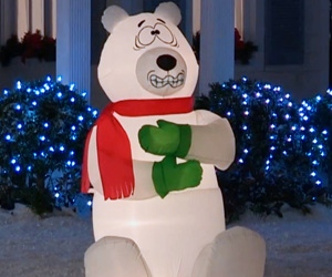Giant Inflatable Shivering Polar Bear
